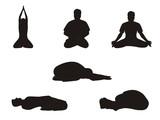 Vector Yoga Postures 4 poster