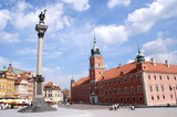 Column and Royal Castle in Warsaw, Poland - 9422242