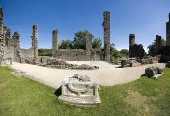 the ruined castle of berry pomeroy totnes devon