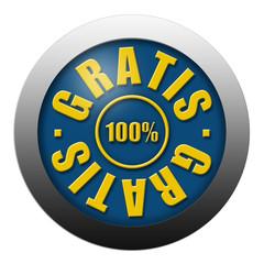 Gratis-Button blau-gold
