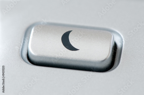 sleep button, macro image from a keyboard