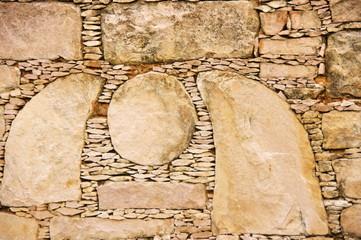 Mur de pierre. Stone wall. Muro de piedra. Mauer aus Stein