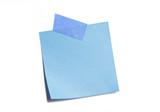 Vibrant Blue Sticky Note poster