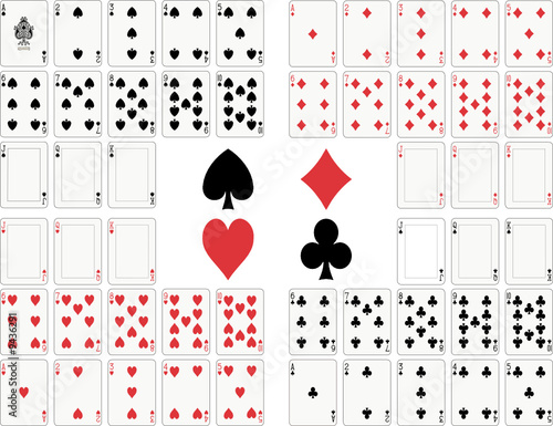 Playing cards full deck - 9436291
