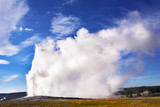 The most well-known geyser in Yellowstone  Old Faithful. poster