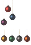 xmas balls with a nice soft texture,  create your own design. poster