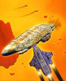 spaceship attack poster