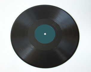 75 rpm shellac record on white background