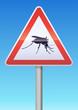 Panneau de danger moustique