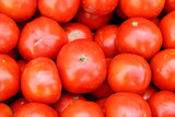 Fresh tomato from the garden, ideal for backgrounds poster