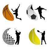 Fototapety sport ball logos vector