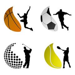 sport ball logos vector