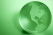 Green Colored Globe