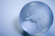 Blue Colored Globe