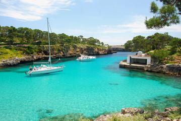 beach with Boats on the island Mallorca