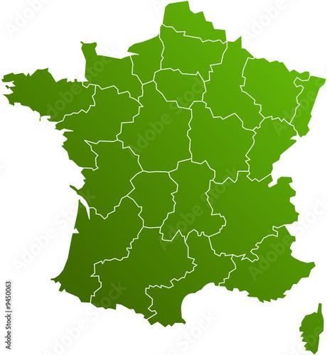 carte de france. carte des regions de france