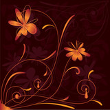 floral pattern with stylized flowers