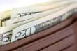 Wallet Full Of Dollar Bills