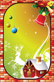 christmas invitation card poster