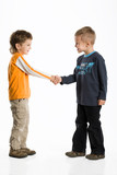 Two Boys say Hello Toe Each Other poster