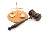 justice gavel studio isolated poster