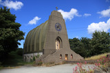 Unusual Church built like the upside of a boat poster