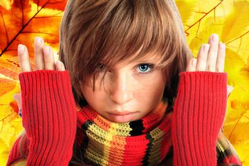 Portrait of a styled teen. Theme: teens,  fashion, autumn.