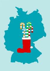 Weihnachtsstiefel mit Lakritze in Deutschland