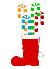 Weihnachtsstiefel mit Lakritze