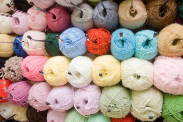 Skeins of different colors