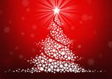 Fototapety Christmas tree stars