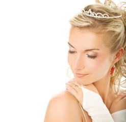 Beautiful young bride close-up portrait