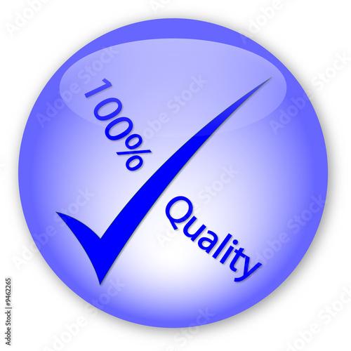 """""""100% Quality"""" Logo"""