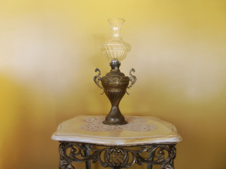 close up shot of an antique lamp
