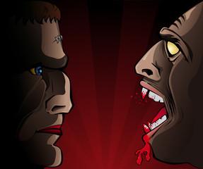 Frankensteins Versus Vampire
