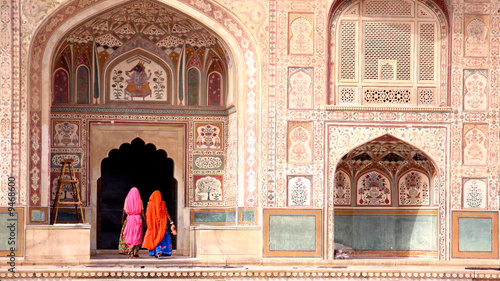 Two women walking in the Amber Fort, Jaipur - 9468600