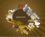 colourful abstract medallion- decorative background poster