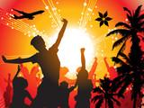 Summer disco poster