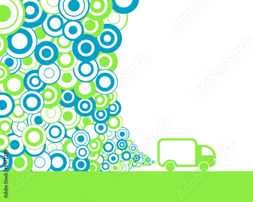 abstract van polluting air