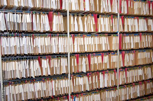 Leinwanddruck Bild Aktenregister