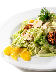 Salad with Chinese Cabbage and Chicken Filleted
