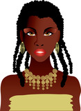 beautiful african girl in gold necklace poster