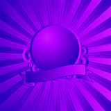 Modern shield in purple and magenta poster