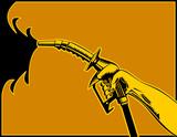 Gasoline pump nozzle poster