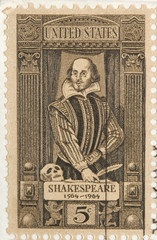 This is a Vintage 1964 Stamp Shakespeare