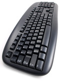 Black Keyboard overhead angle Perspective poster