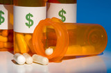 High cost of medication is like pouring money down the drain. poster