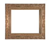 very old stylistic copper frame poster
