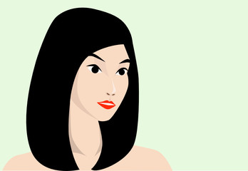 Vector of Asian beauty