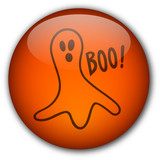 Halloween Button : Scary Ghost poster